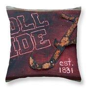 Roll Tide Alabama Throw Pillow by Racquel Morgan