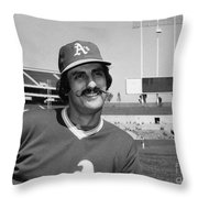 Rollie Fingers (1946- ) Throw Pillow by Granger