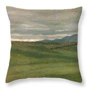 Roman Landscape Throw Pillow by Antoine Auguste Ernest Hebert