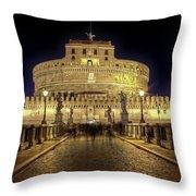 Rome Castel Sant Angelo Throw Pillow by Joana Kruse