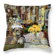 Room Of Flowers, 1894 Throw Pillow by Granger