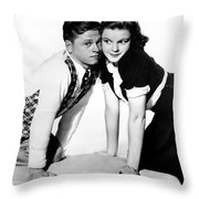 Rooney And Garland, 1938 Throw Pillow by Granger