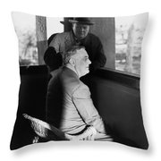 ROOSEVELT AND CHURCHILL Throw Pillow by Granger