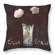 Rosa Rosae Throw Pillow by Guido Borelli