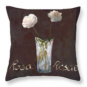 Rosa Rosae Throw Pillow by Guido Borelli