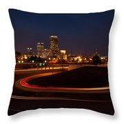 Round The Bend Throw Pillow by Jonas Wingfield
