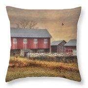 Route 419 Barn Throw Pillow by Lori Deiter