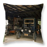 Route 66 Garage, 2009 Throw Pillow by Granger