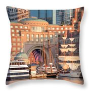 Rowes Wharf Throw Pillow by Susan Cole Kelly