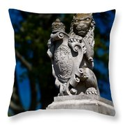 Royal Lion Throw Pillow by Christopher Holmes