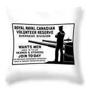 Royal Naval Canadian Volunteer Reserve Throw Pillow by War Is Hell Store