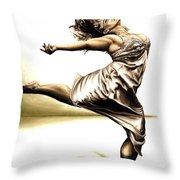 Rubinesque Dancer Throw Pillow by Richard Young