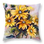 Rudbeckia  Prairie Sun Throw Pillow by Karin  Dawn Kelshall- Best