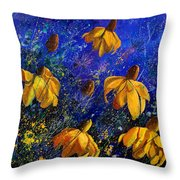 Rudbeckia's Throw Pillow by Pol Ledent