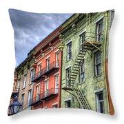 Rue Bienville Throw Pillow by Tammy Wetzel