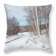 Rural Roads Throw Pillow by Bill Wakeley