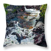 Rushing Waters Throw Pillow by John Lautermilch