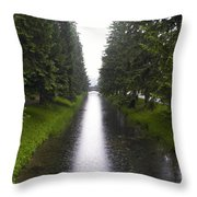 Russia, Tzarskoje Selo, Canal Throw Pillow by Keenpress