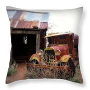 Rusted Classic Throw Pillow by Perry Webster