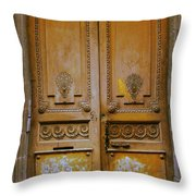 Rustic French Door Throw Pillow by Georgia Fowler
