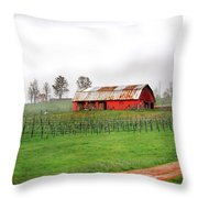 Rustic Wine Throw Pillow by Robert Smith