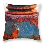 Rusty Screw And Bolt Throw Pillow by Yali Shi