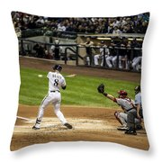 Ryan Braun  Throw Pillow by CJ Schmit