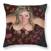 Sacred Circle II Throw Pillow by Sheri Howe
