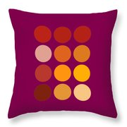 Saffron Colors Throw Pillow by Frank Tschakert