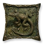 Sagebrush Lizard Throw Pillow by Dawn Senior-Trask