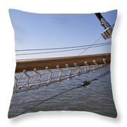 Sailboat Bowsprit Throw Pillow by Dustin K Ryan