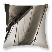 Sailing Beneteau 49 Sloop Throw Pillow by Dustin K Ryan