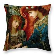 Saint Cecilia Throw Pillow by John Melhuish Strukdwic