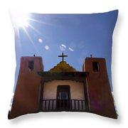 Saint Jeromes Chapel Taos Pueblo Throw Pillow by Kurt Van Wagner