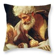 Saint Matthew Throw Pillow by Guido Reni