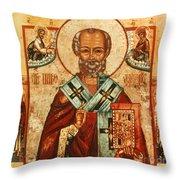 SAINT NICHOLAS Throw Pillow by Granger