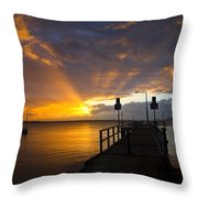 Salamander Bay Sunrise Throw Pillow by Avalon Fine Art Photography
