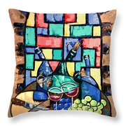 Salute Happy Hour In Tuscany Throw Pillow by Anthony Falbo
