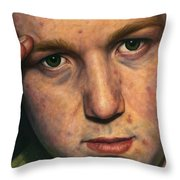 Salute Throw Pillow by James W Johnson