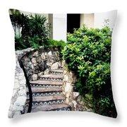 San Antonio Stairway Throw Pillow by Will Borden