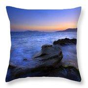 San Juan Sunset Throw Pillow by Mike  Dawson