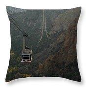 Sandia Peak Cable Car Throw Pillow by Joe Kozlowski