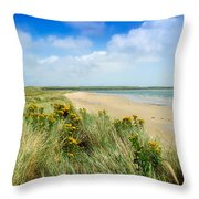 Sandunes At Fethard, Co Wexford, Ireland Throw Pillow by The Irish Image Collection