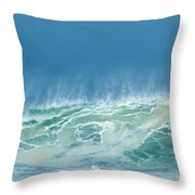 Sandy Wave Throw Pillow by Michelle Wiarda