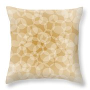 Sanguine Abstract Circles Throw Pillow by Frank Tschakert