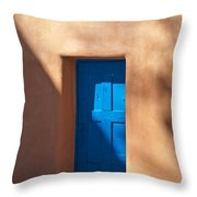 Santa Fe Portal Throw Pillow by Steve Gadomski