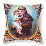 Santo Antonio De Lisboa Throw Pillow by Gaspar Avila