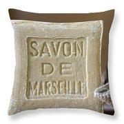 Savon De Marseille Throw Pillow by Frank Tschakert
