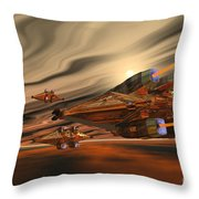 Scadlands Throw Pillow by Corey Ford