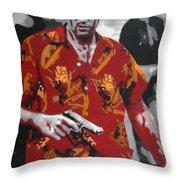 Scarface 2013 Throw Pillow by Luis Ludzska